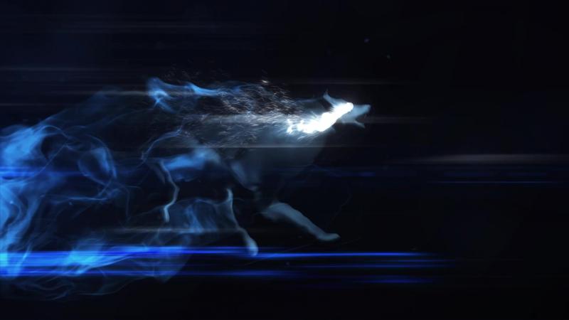 Логотип бегущий волк