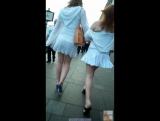 Подсматривает под юбки девочкам (voyeur, spying, кружевные трусики, колготки под юбкой, засветила, показала)