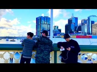 [TWITTER] 170711 Обновление в твиттере друга Марка Рэнди (@randywongg): Первое видео! Первый раз в Австралии! (Видео БэмБэма).