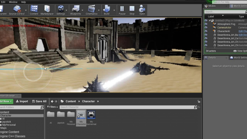 For Unreal Engine Group. Attack of dragon