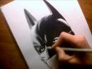 Speed Drawing Batman Christian Bale Jasmina