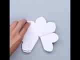Открытка 3D цветы своими руками.