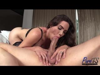 [Pure-ts] Itzel XXX - Mexican TS beauty enjoys the cock [2018 г., Shemale, Hardcore, Anal, Bareback, 1080p]