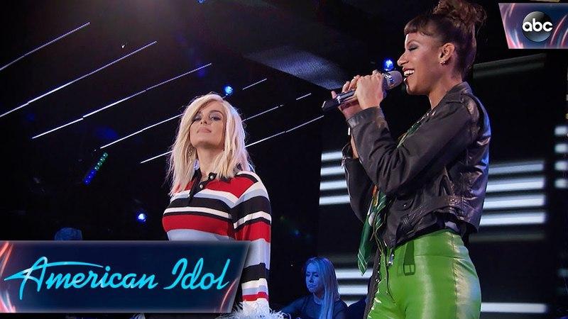 Amelia Hammer Harris Bebe Rexha Sing Me, Myself I - Top 24 Duets - American Idol 2018 on ABC