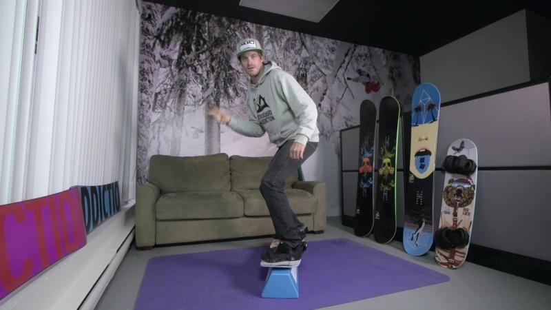 Snowboard Addiction - Balance Bar Training| How To 50-50 On A Training Board Regular