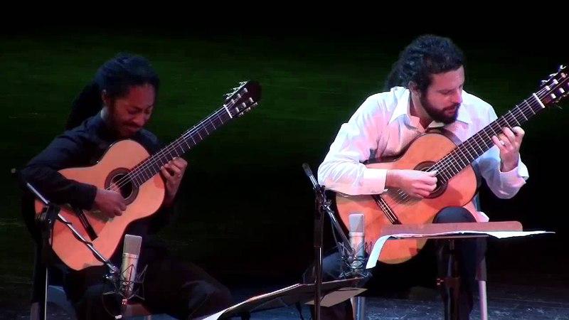 Brasil Guitar Duo: Sonata de los viajeros by Leo Brouwer @ Teatro Martí, Havana, Cuba