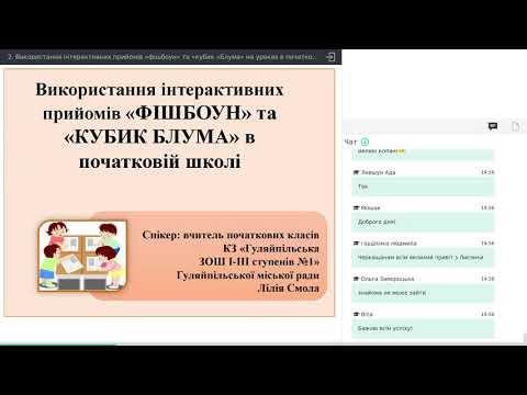 2 Використання інтерактивних прийомів «фішбоун» та «кубик «Блума» на уроках в початковій школі