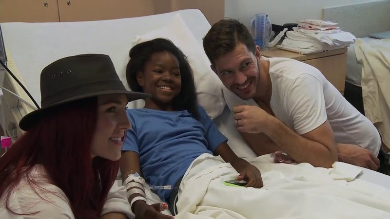 Singer Andy Grammer and Sharna Burges from Dancing With The Stars Come to Visit