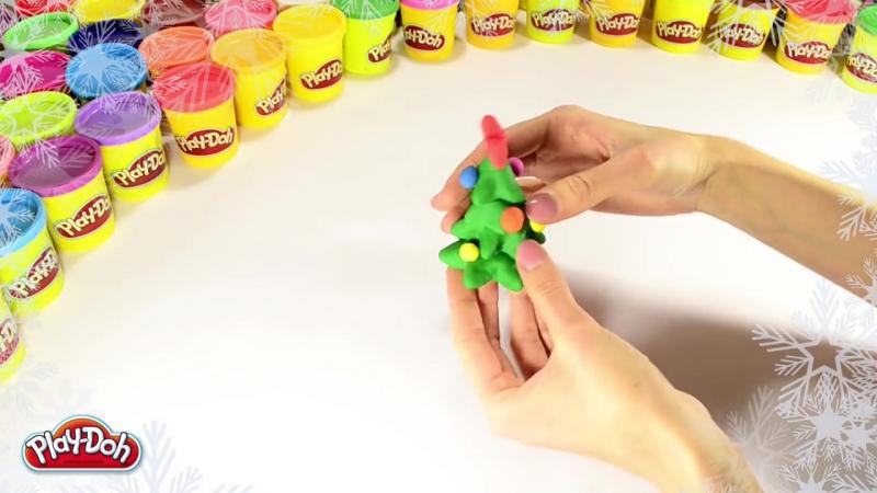 Как слепить Новогоднюю ёлочку из пластилина Play-Doh