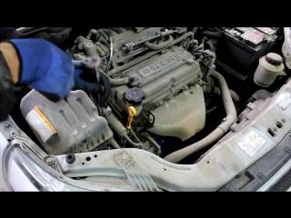 Chevrolet Aveo (Шевроле Авео) замена масла в двигателе, воздушного и салонного фильтра