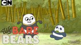 Panda Watches TV for the First Time! We Bare Bears Cartoon Network