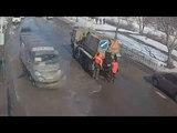 Укладка литого асфальта на ул. 40 лет Победы (26.03.18)