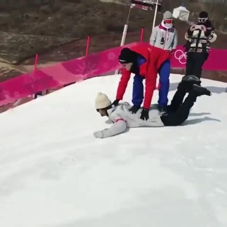 🤣🤣🤣 Olympic pairs snowboarding coub