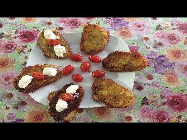 Бутерброды с картошкой готовит Руслан цыган