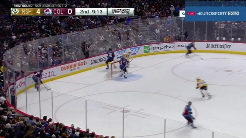 Nashville Predators vs Colorado Avalanche 22 04 2018 Round 1 Game 6 NHL Stanley Cup Playoffs 2018 Eurosport Gold RU