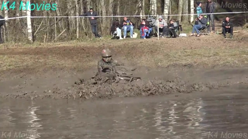 ATVs vs water pools and hill _ ATV mud race _ Oro 2017