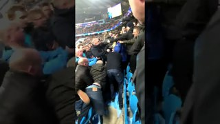 Liverpool Fans vs Man City Supporters Fans Clash At The Stands | 10/04/2018