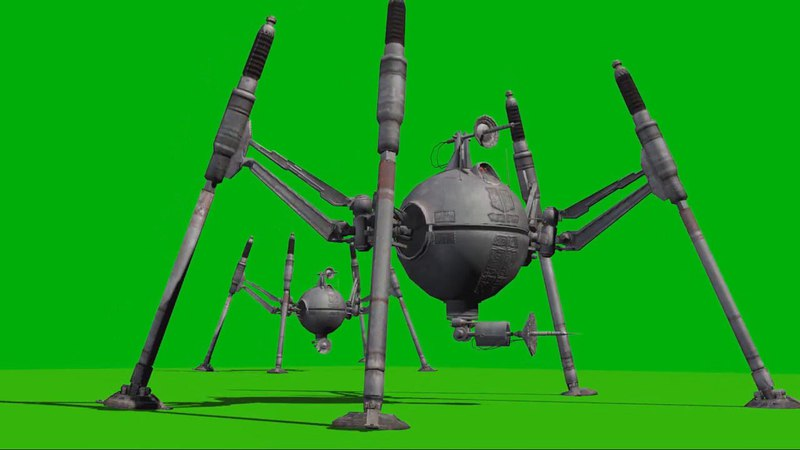 OG 9 Spider Droid Green Screen | Футаж OG 9 Звездные Войны на зеленом фоне (Хромакей)