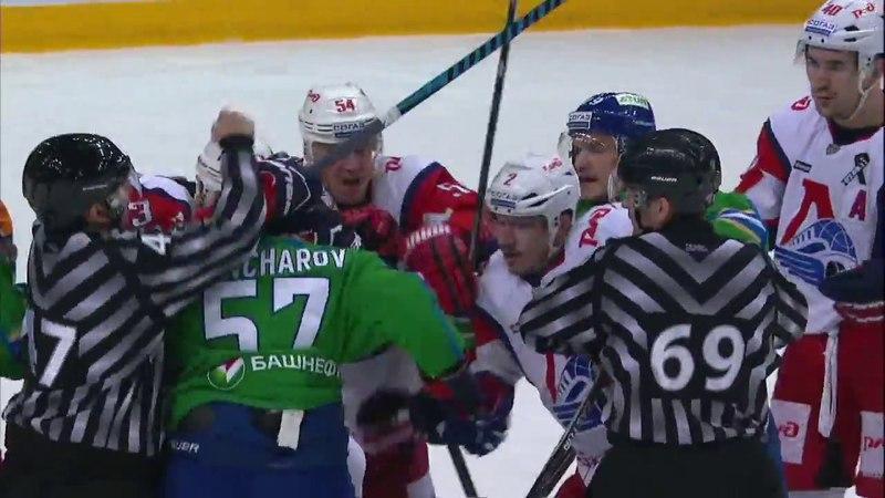 KHL Fight Goncharov VS Cherepanov