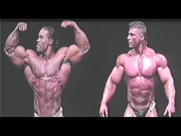 Kevin Levrone and Paul Demayo 1991 Posing and Flexing