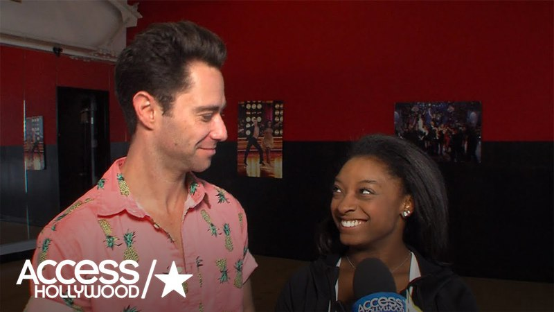 Exclusive: Simone Biles Sasha Farber On Their 'Rough' 'DWTS' Monday | Access Hollywood