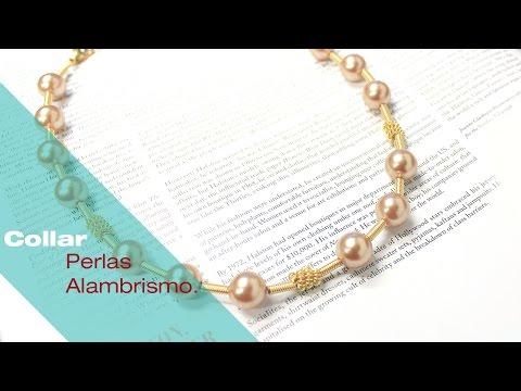 Aprende Alambrismo y crea un Collar de Perlas - Variedades y Fantasías Carol