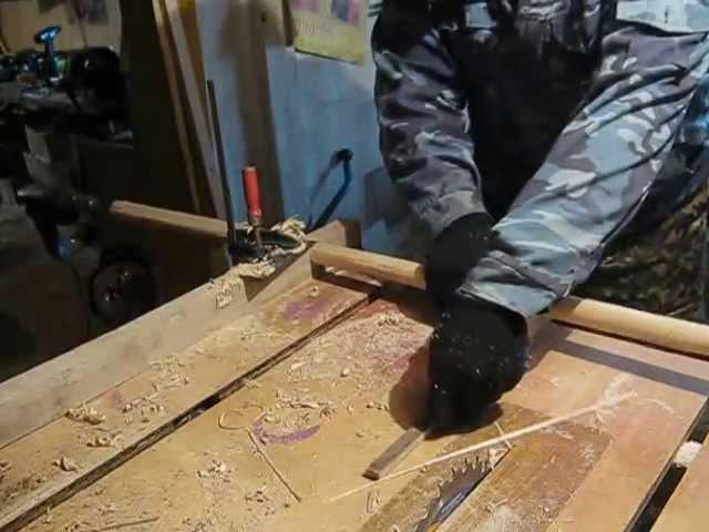 изготовление черенка с помощью дрели