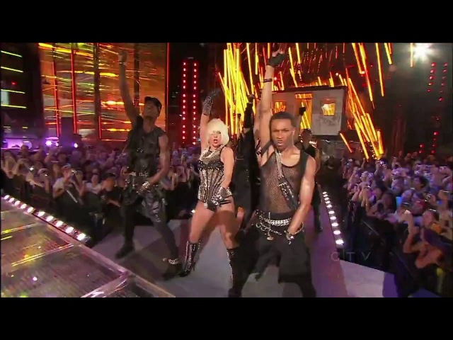 HD Lady GaGa Love Game Poker Face Live @ Much Music Awards 2009 720p