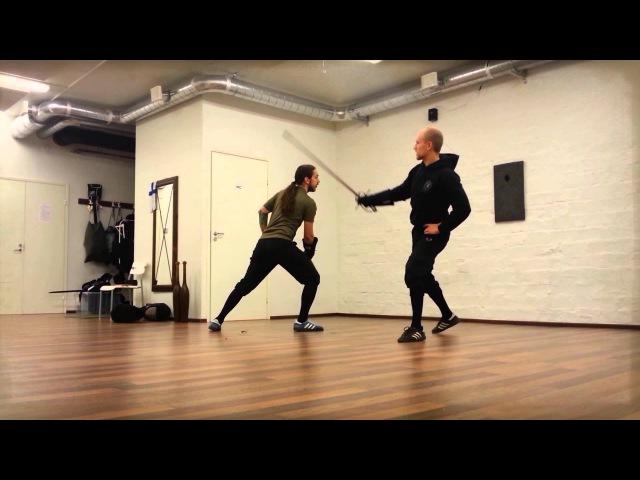 Description of Bolognese swordsmanship workshop at Swordfish 2013