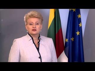 Вітання Президента Литви з Днем Незалежності України!