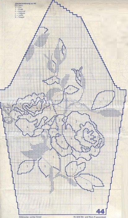 Джемпер с цветами