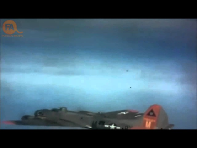 World War Two air combat in color