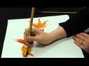 Chinese brush painting basics gold fish