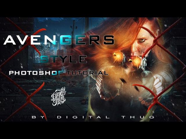 AVENGERS STYLE | Photoshop tutorial by Alex Crow\uyu