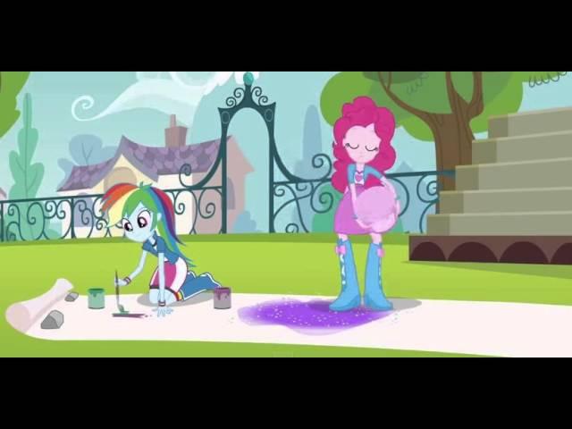 Радужный Рок Девушки Эквестрии Барабанщица Пинки