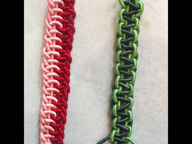 Ручки для сумок. Плетение ручки. Плетение шнуров. Плетение пошагово. Часть 1. (Weave. P. 1)