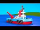 Развивающие мультики для детей от 3 лет. Конструктор собираем корабль буксир. Вы...