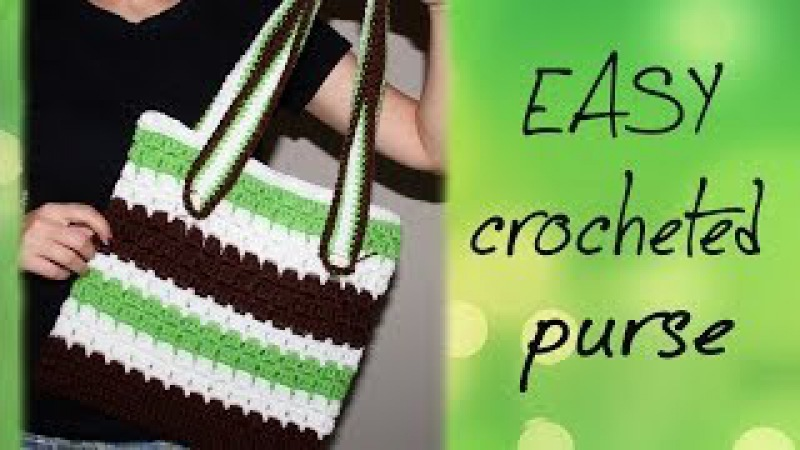 How To Crochet for Beginners | Easy Purse