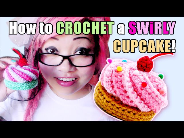 How to Crochet a Swirly Cupcake Hair Clip!