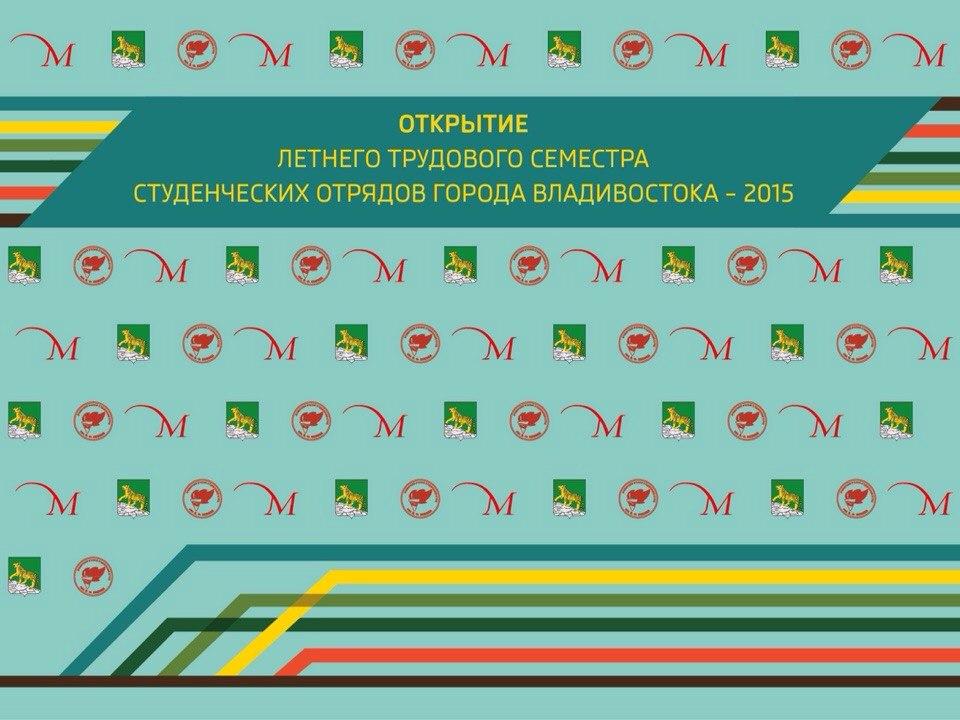 Афиша Владивосток Открытие Летнего трудового семестра 2015 года