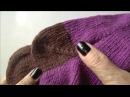 Вязание пятки носка. Пятка носка спицами. Пятка бумеранг. Ч. 2 (knitting socks. P. 2)
