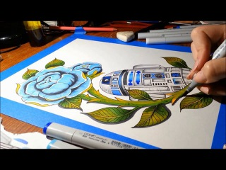 R2D2 Speed Paint - With Markers