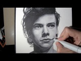 Drawing Harry Styles from ONE DIRECTION with Copic Markers - Things to Draw