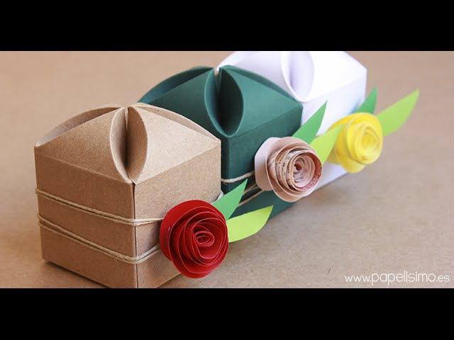 Cómo decorar cajas de regalo para boda