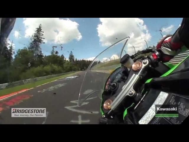 Nürburgring Nordschleife Gyrocam-Onboard-Runde Kawasaki Ninja 2011