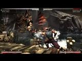 Mortal Kombat X - Kung Lao 40% Midscreen combo Meterless