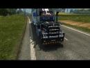ETS2mp Путешествие На Грузовике Kenworht T908 Travel on a truck Kenworth T908