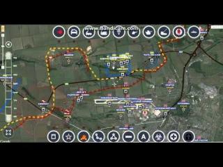 Обзор карты боевых действий 01.02.2015 на 19.30