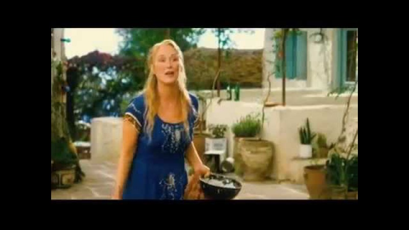 Pierce Brosnan and Meryl Streep sing S.O.S in Mamma Mia!