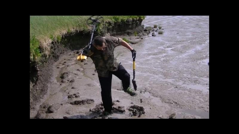 Поиск золота ОПАСНАЯ ТРЯСИНА на реке ТЕМЗЕ